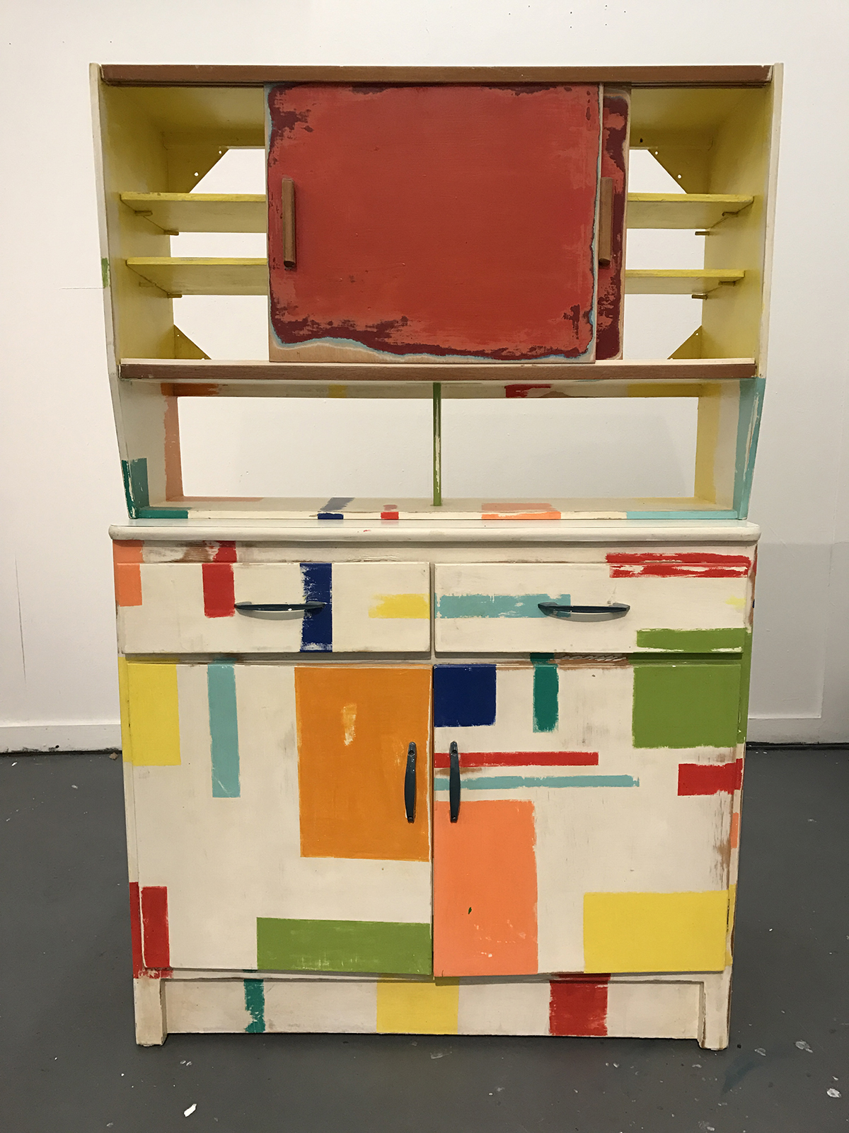 1950 Kitchen Furniture 1950s Kitchen Sideboard And Cupboard Hand Painted By Artist Clare